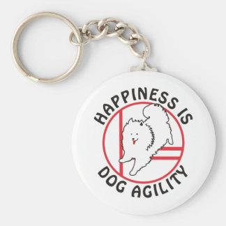 Eskie Agility Happiness Keychains