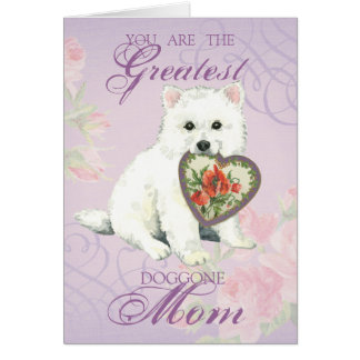 Eskie Heart Mom Greeting Card