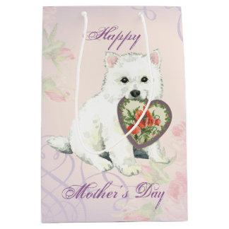Eskie Heart Mom Medium Gift Bag