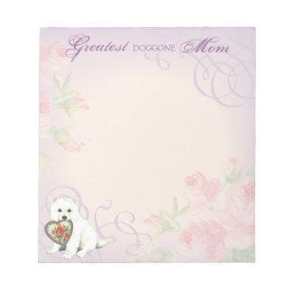 Eskie Heart Mom Notepads