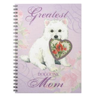 Eskie Heart Mom Spiral Note Books