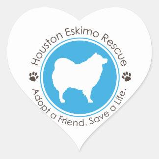 Eskie Logo Heart Sticker