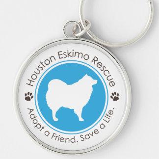 Eskie Logo Silver-Colored Round Key Ring