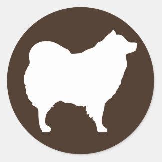 Eskie on Brown Sticker