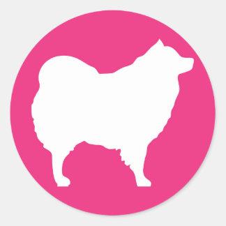 Eskie on Pink Sticker