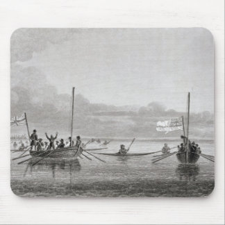 Eskimaux Coming Towards Boats in Shoalwater Mouse Mat