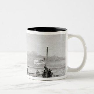 Eskimaux Coming Towards Boats in Shoalwater Two-Tone Coffee Mug