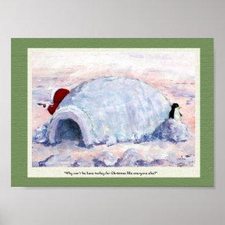 Eskimo and Penguin Poster