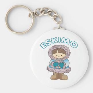 Eskimo Basic Round Button Key Ring