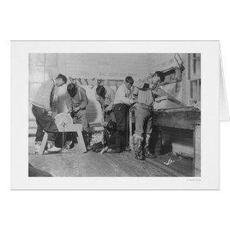 Eskimo Carpenters in Alaska 1904 Greeting Cards