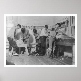 Eskimo Carpenters in Alaska 1904 Posters