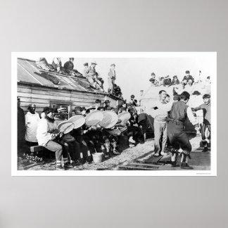 Eskimo Ceremonial Dance in Nome, Alaska 1914 Posters