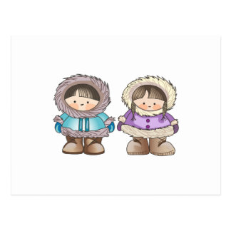 ESKIMO CHILDREN POSTCARD