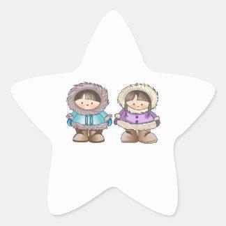 ESKIMO CHILDREN STAR STICKER