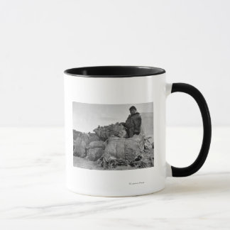 Eskimo Fur Dealer in Nome, Alaska Photograph Mug