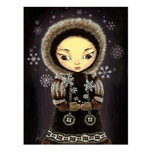 Eskimo girl postcard