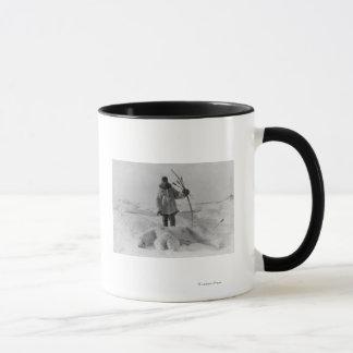 Eskimo Hunter with Polar Bear Photograph Mug
