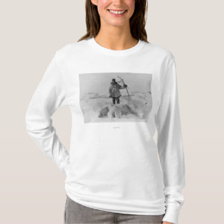 Eskimo Hunter with Polar Bear Photograph T-Shirt