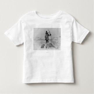 Eskimo Hunter with Polar Bear Photograph Tshirts