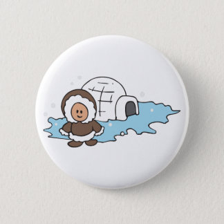 ESKIMO IGLOO 6 CM ROUND BADGE