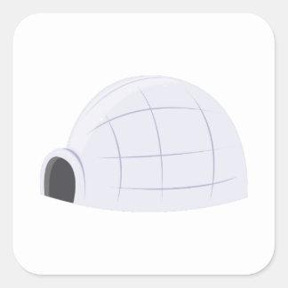 Eskimo Igloo Square Stickers