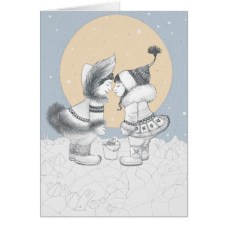 Eskimo kiss card