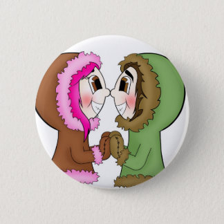 eskimo kisses 6 cm round badge