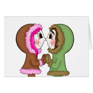 eskimo kisses greeting card