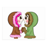 eskimo kisses postcard