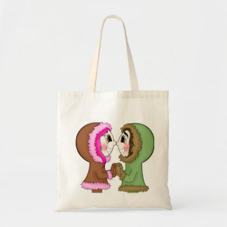 eskimo kisses tote bag