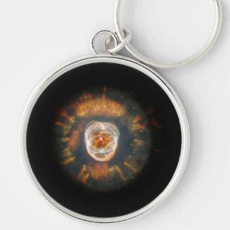 Eskimo Nebula Silver-Colored Round Key Ring