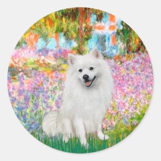 Eskimo Spitz 1 - Garden Round Sticker
