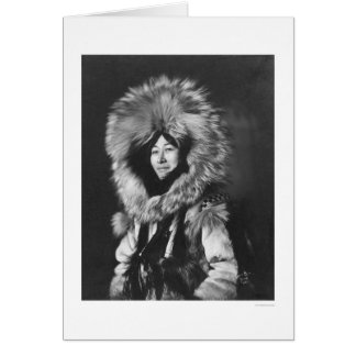 Eskimo Woman Wearing Fur Coat 1915 Greeting Cards