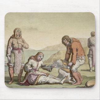 Eskimos, 1817 (colour engraving) mouse mat
