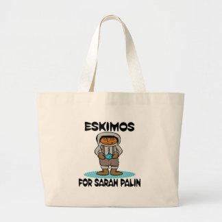 Eskimos for Sarah Palin Jumbo Tote Bag