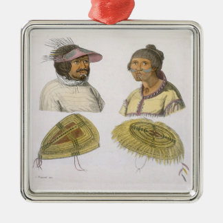 Eskimos from North America (colour engraving) Christmas Ornament