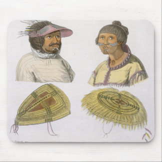 Eskimos from North America colour engraving Mouse Pad