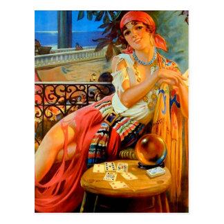 Esme vintage fortune teller postcard