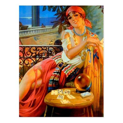 Esme, vintage fortune teller postcard