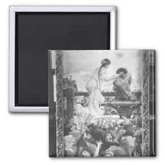 Esmeralda and Quasimodo, 1905 Square Magnet
