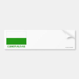 Esmeraldas flag with Name Bumper Sticker
