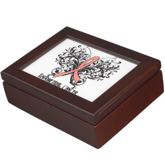 Esophageal Cancer Awareness Butterfly Keepsake Boxes