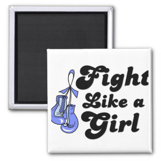 Esophageal Cancer Fight Like A Girl Motto Square Magnet