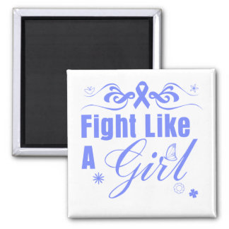 Esophageal Cancer Fight Like A Girl Ornate Refrigerator Magnets