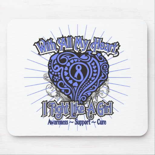 Esophageal Cancer Heart I Fight Like A Girl Mousepads