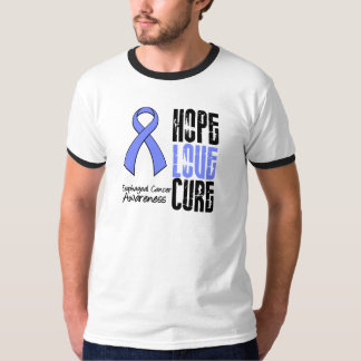 Esophageal Cancer Hope Love Cure Ribbon Shirts