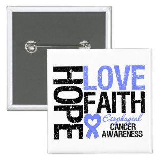 Esophageal Cancer Hope Love Faith 15 Cm Square Badge