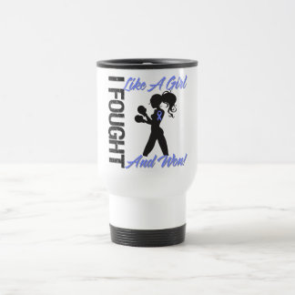 Esophageal Cancer I Fought Like A Girl and Won Stainless Steel Travel Mug