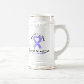 Esophageal Cancer I Support My Husband Coffee Mug