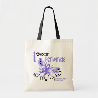 Esophageal Cancer I WEAR PERIWINKLE FOR MY DAD 45 Budget Tote Bag